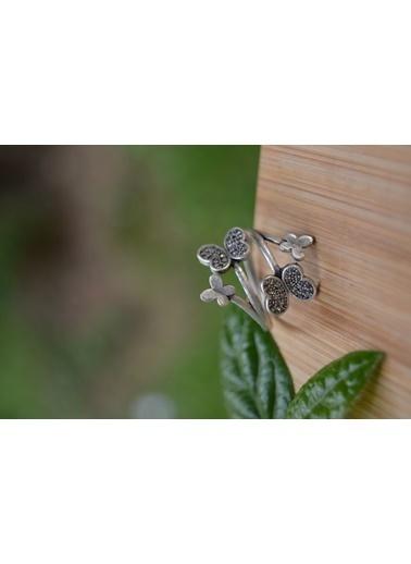Stoneage Kelebek Ayarlanabilir Bohem Yüzük Gümüş